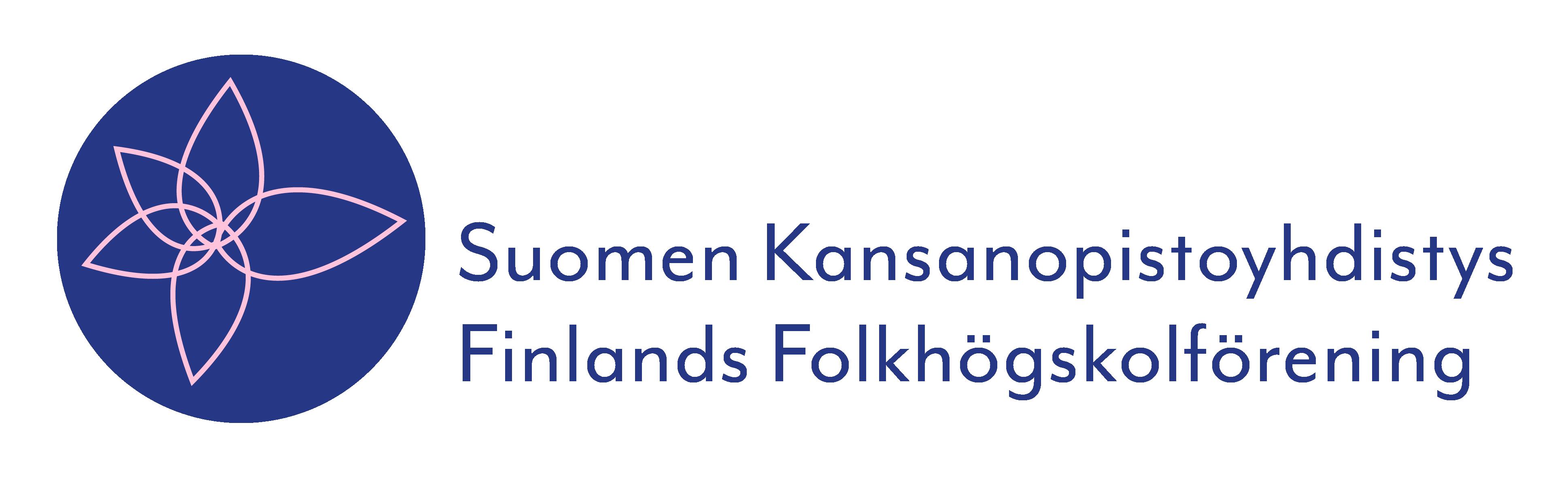 Suomen Kansanopistoyhdistys Finlands Folkhögskolförening. Sisältää linkin kansanopistoyhdistys.fi -verkkosivulle.